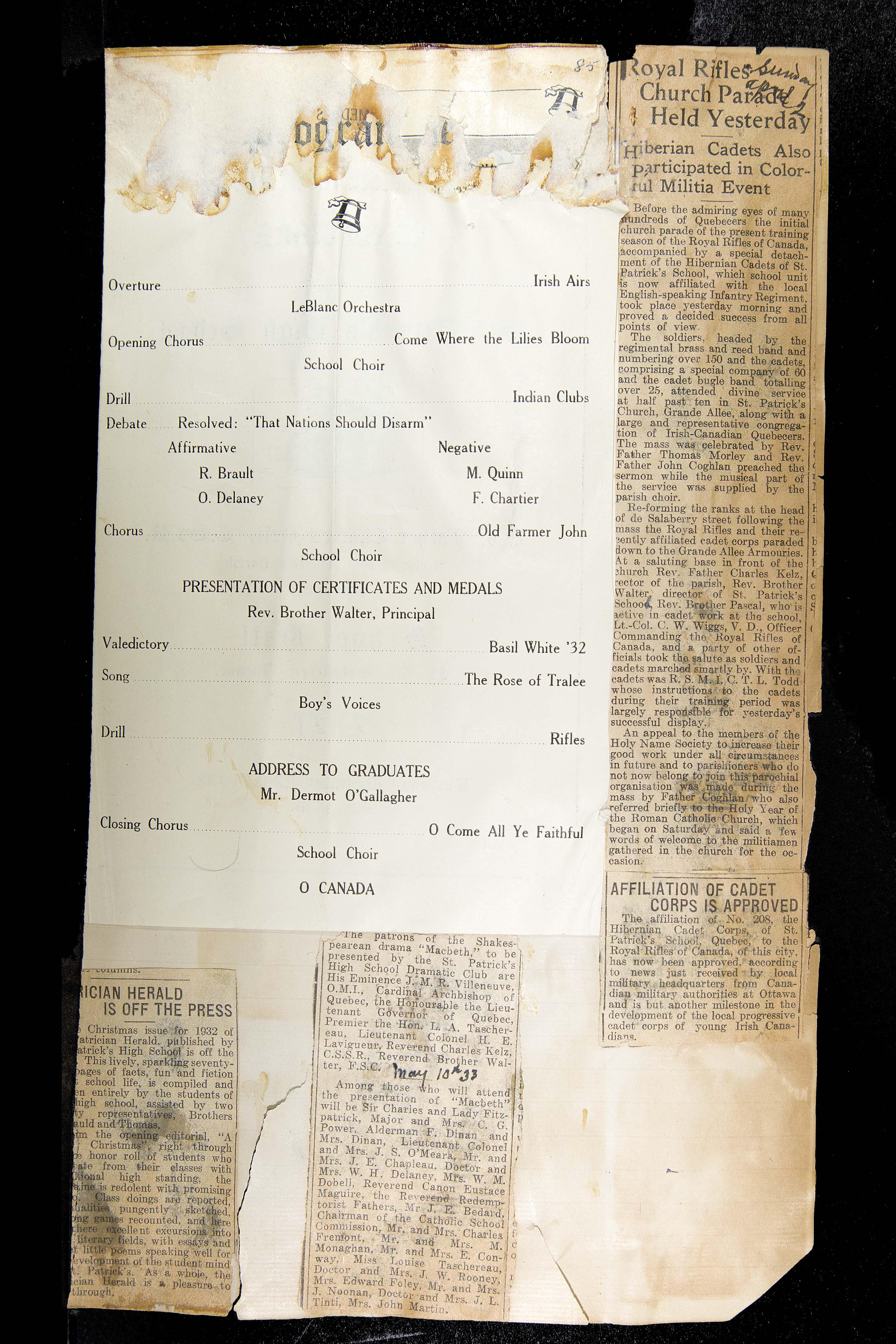 "History of St-Patrick""s school"
